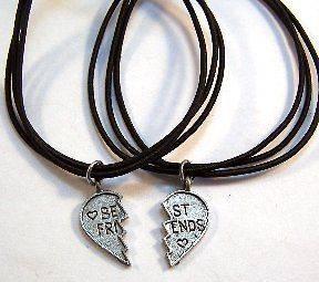 BEST FRIENDS BRACELETS  Two Black Stretch Cord Bracelets