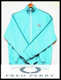 FRED PERRY Twin Tape Track Jacket Turquois Blue Sz S