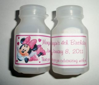 30 MINNIE MOUSE BIRTHDAY PARTY FAVORS BUBBLE LABELS