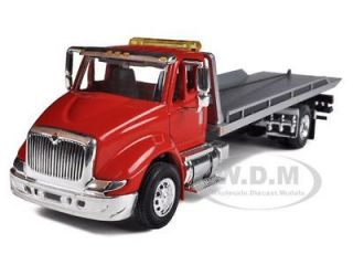 INTERNATIONAL 8600 RED CAB TOW TRUCK WITH ROLLBACK BED 1/64 SPECCAST