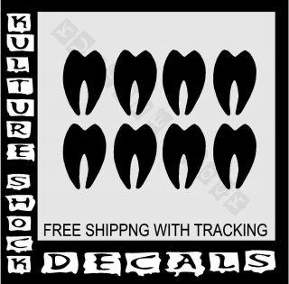 DEER HUNTING DECAL ,TRACKS ,FOOT PRINTS, DECAL, TRUCK, VINYL, REDNECK