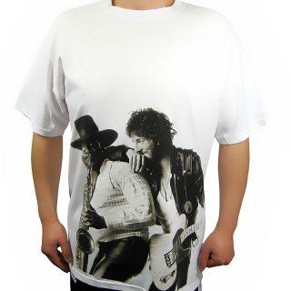 Bruce Springsteen T Shirt Born to Run Tour Charlotte NC White & Black