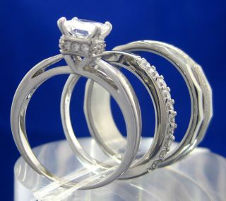 silver wedding ring set in Engagement/Wedding Ring Sets