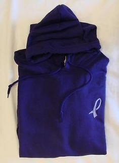Lupus Awareness Walking Ribbon Purple Hoodie Sweatshirt L New