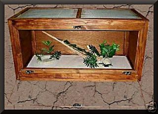 Wood REPTILE CAGE Bearded Dragons, Snakes 36x18x18