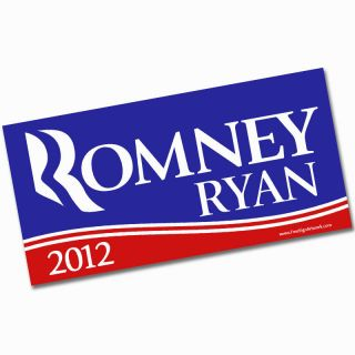 ROMNEY RYAN Bumper Sticker (Anti Obama 2012 Republican GOP Mitt