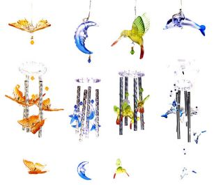 Changing Hummingbird Moon Stars Butterfly Dolphin Wind Chime Light