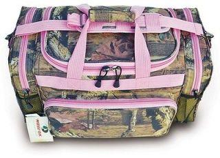 20 Pink Trim Mossy Oak Camo Duffle Bag Ladys Carry On Luggage Range