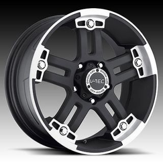Warlord Black Wheels Rims 6X5.5 6 Lug Chevy Chevrolet GM Nissan Truck