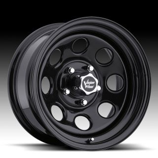 12 Vision Soft 8 Black Steel Wheels Rims 6x5.5 6 lug Chevy GM Truck