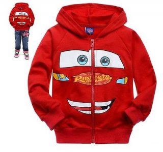 New Baby Boys Girls Cars Lightning McQueen Hoodies Sweatshirts Fit For