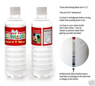 mouse water bottle labels in Holidays, Cards & Party Supply