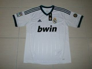 BNWT REAL MADRID HOME JERSEY T SHIRT 2012/2013 SIZE XL #