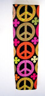 Stroller / Car Seat belt Cover Pads Peace Signs