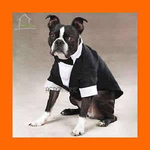 DOG SUIT TUXEDO WEDDING Marriage Costume Clothing Dog Cat Pet Bowtie