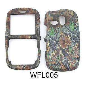 Camo Mossy Phone Cover Hard Case Snap for Straight Talk Samsung R350