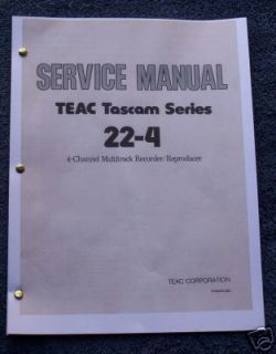 Tascam 22 4 Reel to Reel Service Manual FREE SHIP!