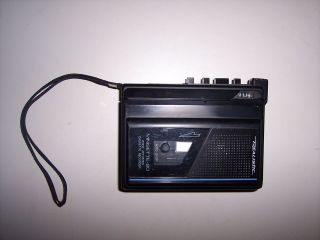 REALISTIC MINISETTE 20 VOICE ACTIVATED CASSETTE TAPE RECORDER, WORKS