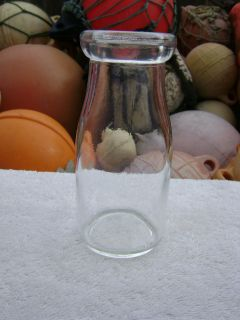 SMALL CLEAR SUNBROKERS MILK GLASS BOTTLE (B311)