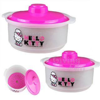 Sanrio Hello Kitty 2pcs Fruit Salad Vegetable Storage Bowl Container