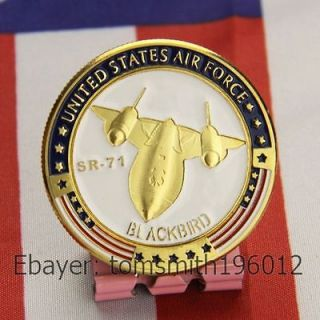 USAF / SR 71 Blackbird / Military Aircraft / Challenge coin 210