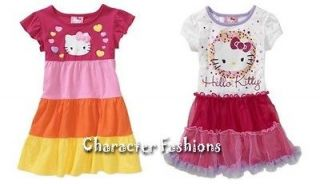 HELLO KITTY DRESS Size 12 18 24 Months 3T 4T 5T Shirt Girls TUTU