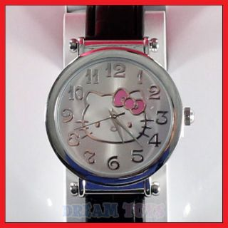 Sanrio Hello Kitty Black Faux Leather Wrist Watch