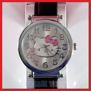Sanrio Hello Kitty Black Faux Leather Wrist Watch