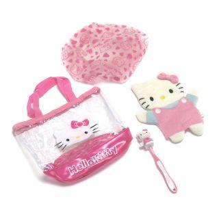 Hello Kitty Girls Bathroom Gift Set Wash Set   Pink