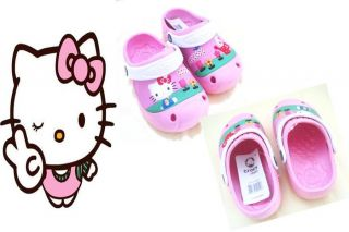Hello Kitty Crocs Sz EU27, EU29 / 7 & 7.5 4,5,6,Yrs Loveem or your