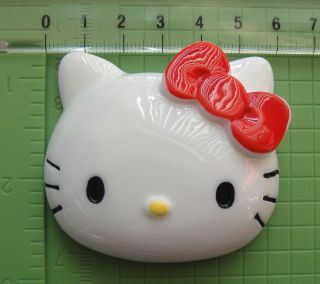 Hello Kitty Red Bow Resin Flatback Cabochon Decoden Puffy XL Big 60mm