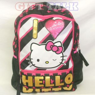 Sanrio Hello Kitty School Backpack 18 Large Bag   I LOVE HELLO KITTY