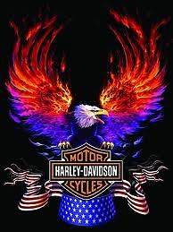 Harley Davidson Motorcycles Edible Image Cake Topper Personalized 1/4