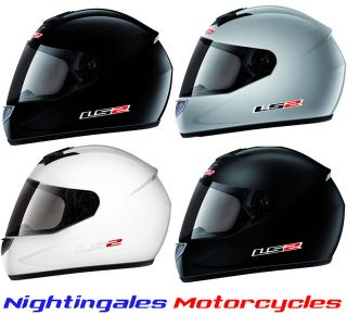 LS2 FF351 PLAIN COLOUR FULL FACE LIGHTWEIGHT MOTORCYCLE MOTORBIKE
