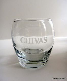 Chivas Regal Scotch Whisky Etched HighBall Rocks Glass