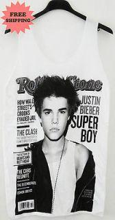 Justin Bieber R&B Pop Hip Hop Tank Top Vest Singlet Tee T Shirt FREE