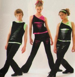 SLASH Girls Version Hip Hop Tap Dance Costume Child XL