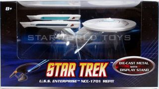 Hot Wheels Star Trek USS Enterprise NCC 1701 Refit Mattel TMP TWOK