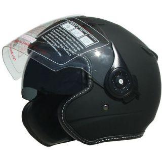 Motorcycle Helmet Open Face Dual visor Motorcycle Helmet DOT Flat