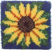 Wonderart Latch Hook Kit 12X12 Sunflower