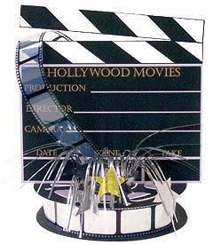 Hollywood 3 D Clapboard & Reel Centerpiece Clapper Slate 243035