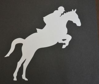 SHOWJUMPING HORSE PONY JUMPING STICKER DECAL CAR TRAILER HORSEBOX