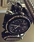 MICHAEL KORS Designer RUNWAY BLACK Silver Watch Bracelet MK5248 LUX