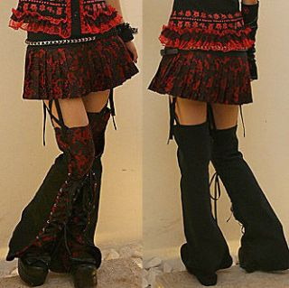 Kera VISUAL KEI PUNK GOTHIC EMO NANA pants skirt leg warmers S XXL
