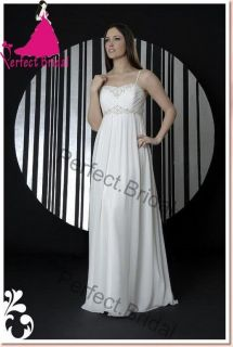 Chiffon Empire Maternity Wedding Dresses Bridal Gown Prom Party Ball