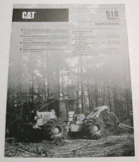Caterpillar 1992 518 Series II Grapple Skidder Brochure