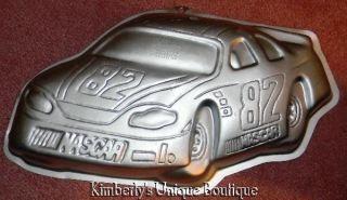 WILTON NASCAR RACE CAR CAKE PAN MOLD TIN +Instructions