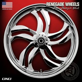 RENEGADE 3D CHROME CINCI WHEELS 4 HARLEY DAVIDSON TOURING MODELS 09 12