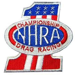 NHRA No1 USA Hot Rod Racing Motorcycle Nos Jacket Suit Patch