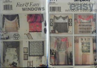 Patterns for less than price of one   Window Treatment (Curtain